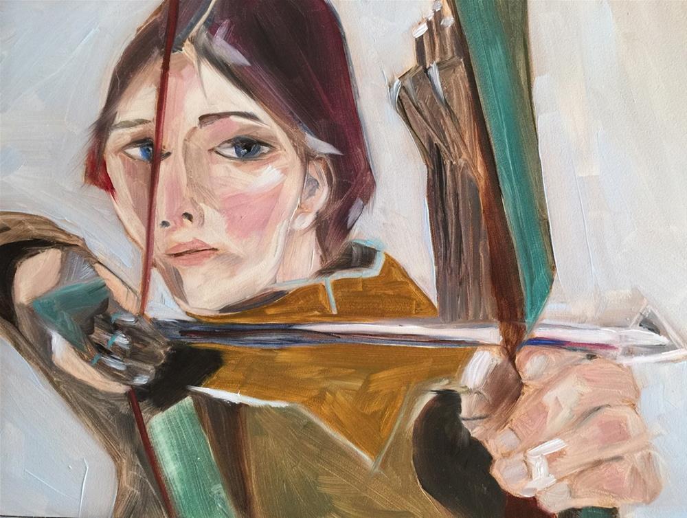 """""""58 Archer"""" original fine art by Jenny Doh"""