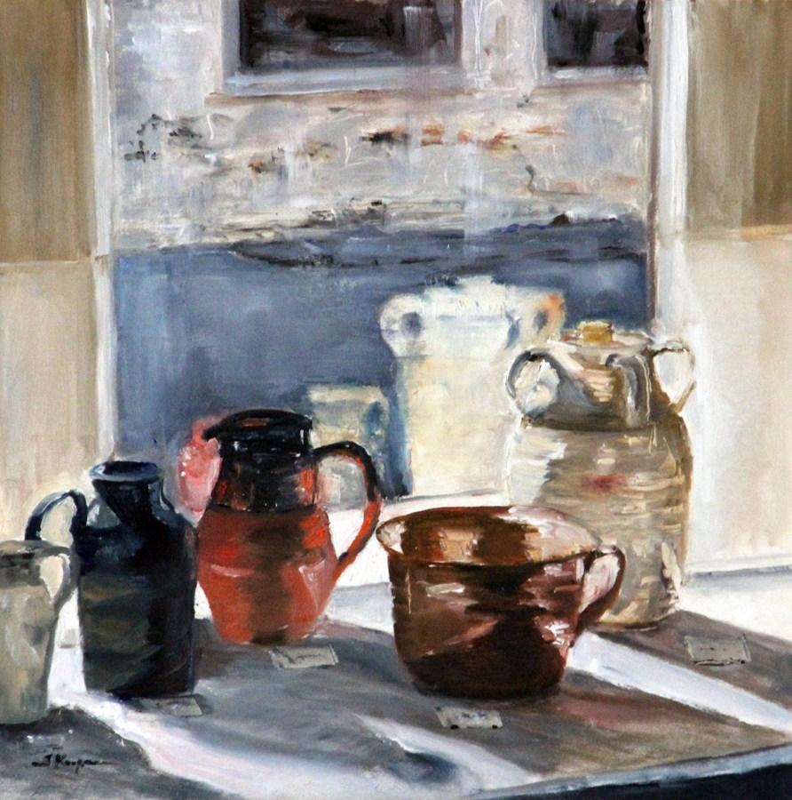 """Window Display with Reflections"" original fine art by Shelley Koopmann"