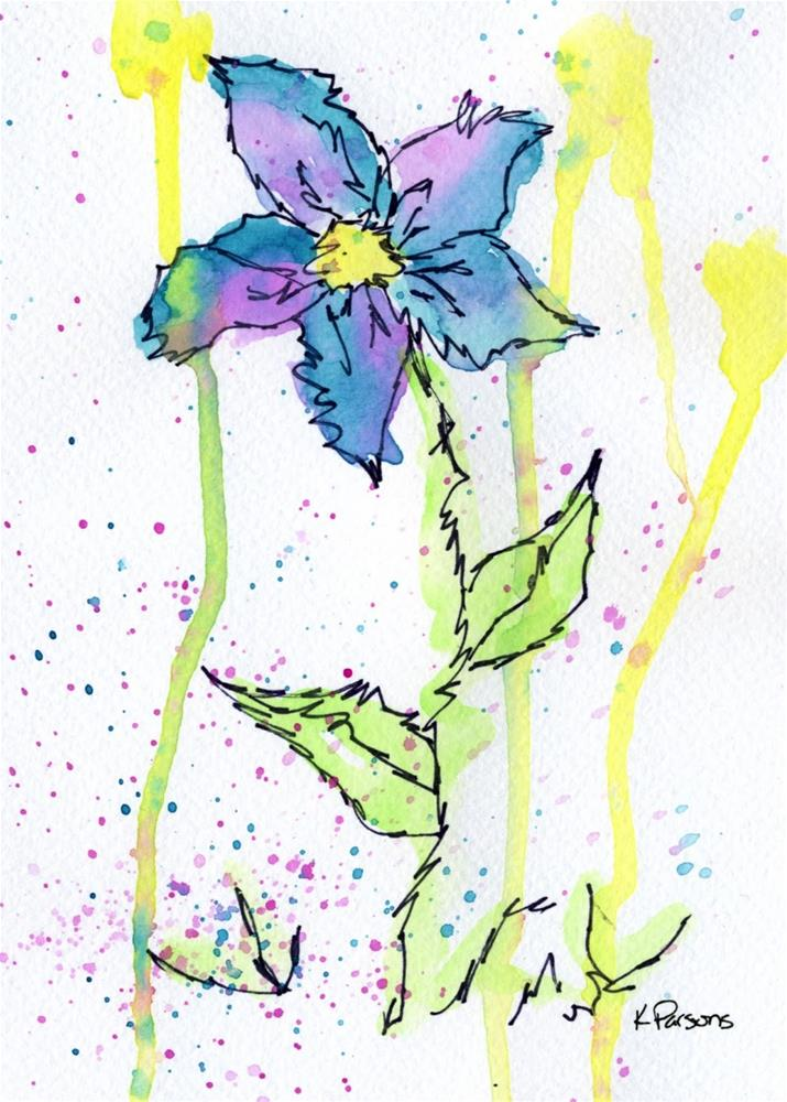 """May Shower Flower"" original fine art by Kali Parsons"