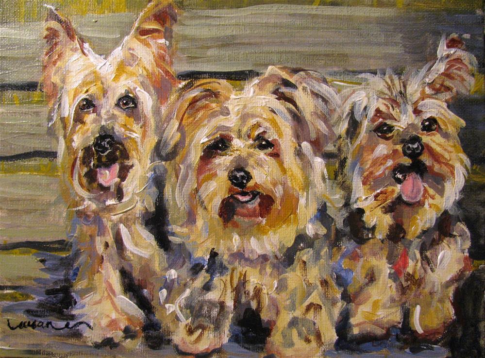 """Sassy, Bella, and Chipper"" original fine art by Susan Elizabeth Jones"