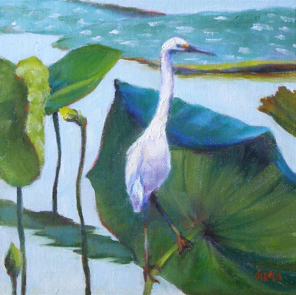 """He Feedeth Among the Lilies, 8x8 Oil on Canvas"" original fine art by Carmen Beecher"