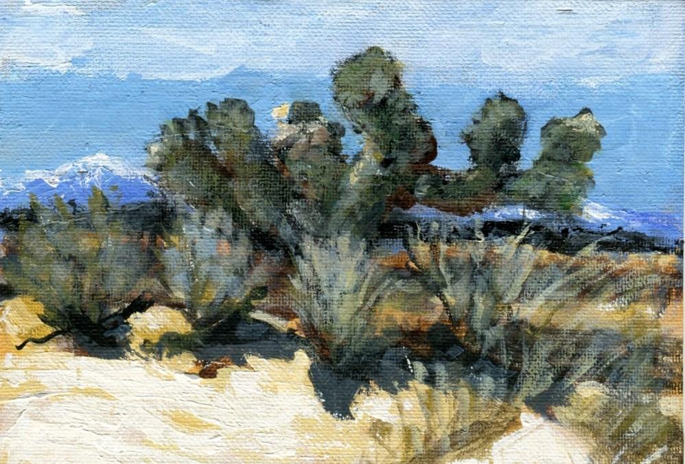 """""""Desert Autumn"""" original fine art by Stanley Epperson"""