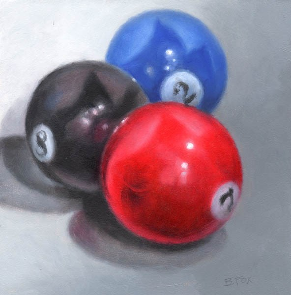 """Billiard Balls"" original fine art by Barbara Fox"