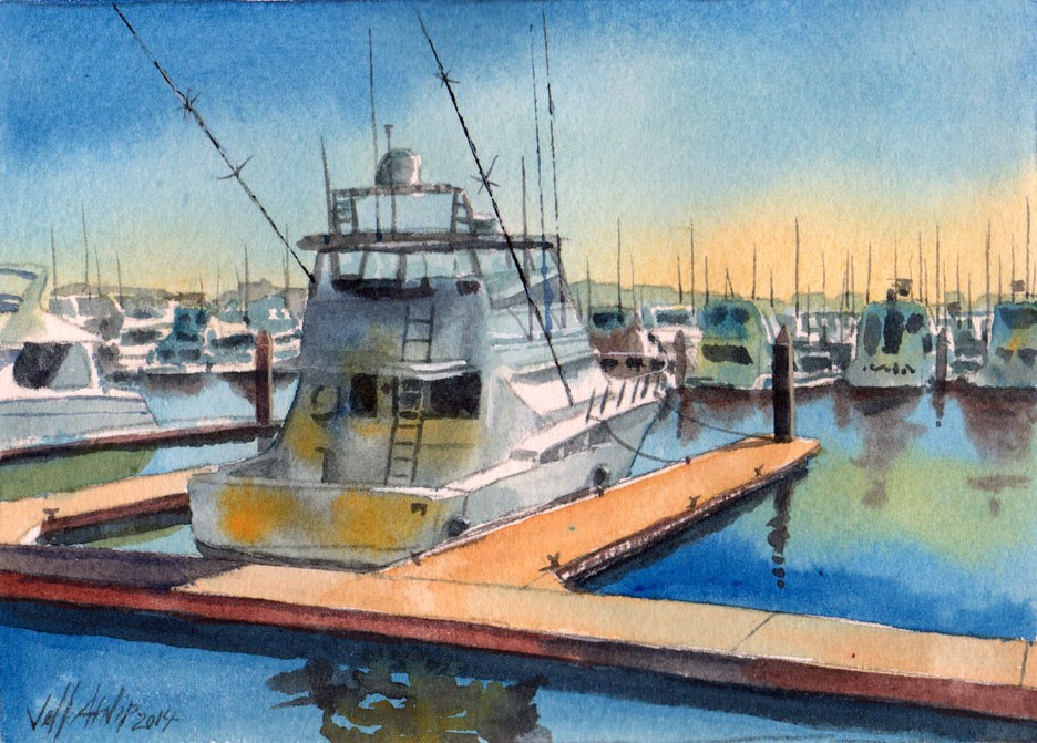 """A Nice Boat"" original fine art by Jeff Atnip"