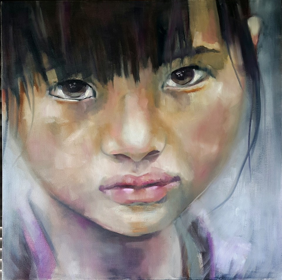 """Little girl"" original fine art by Rentia Coetzee"