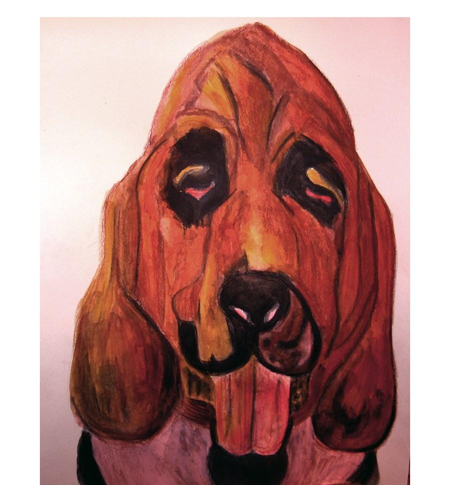 """Even Bloodhounds Get the Blues"" original fine art by Terri Brown-Davidson"