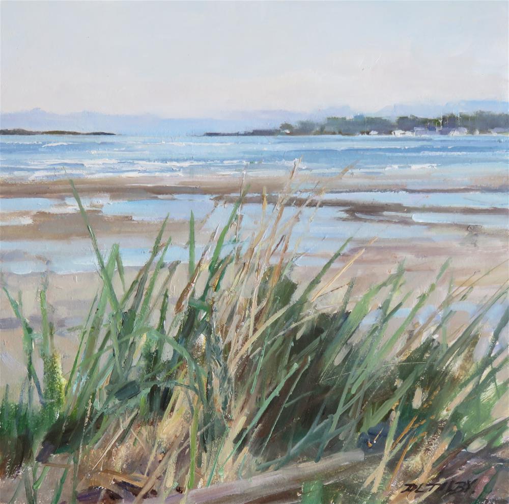 """Grasses at Willows"" original fine art by Deborah Tilby"