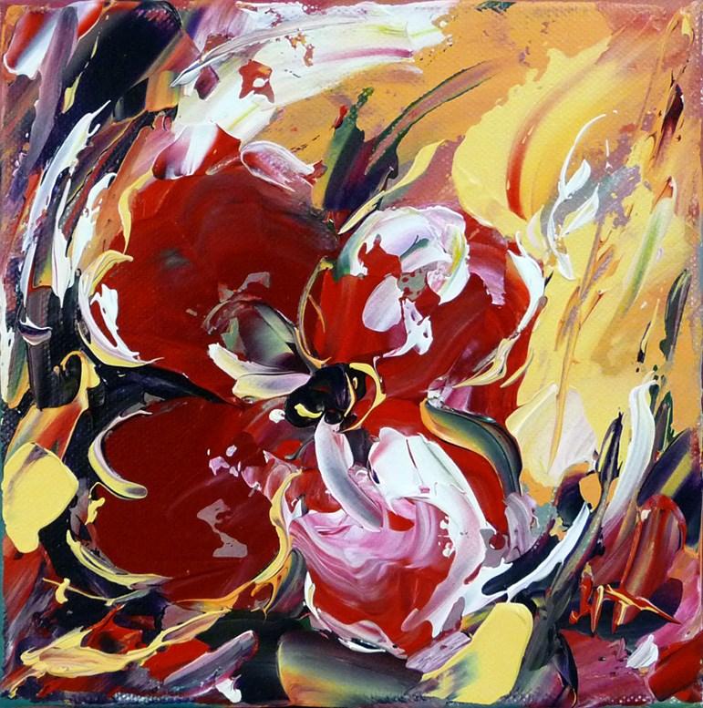 """""""Red Flower"""" original fine art by Mikko Tyllinen"""