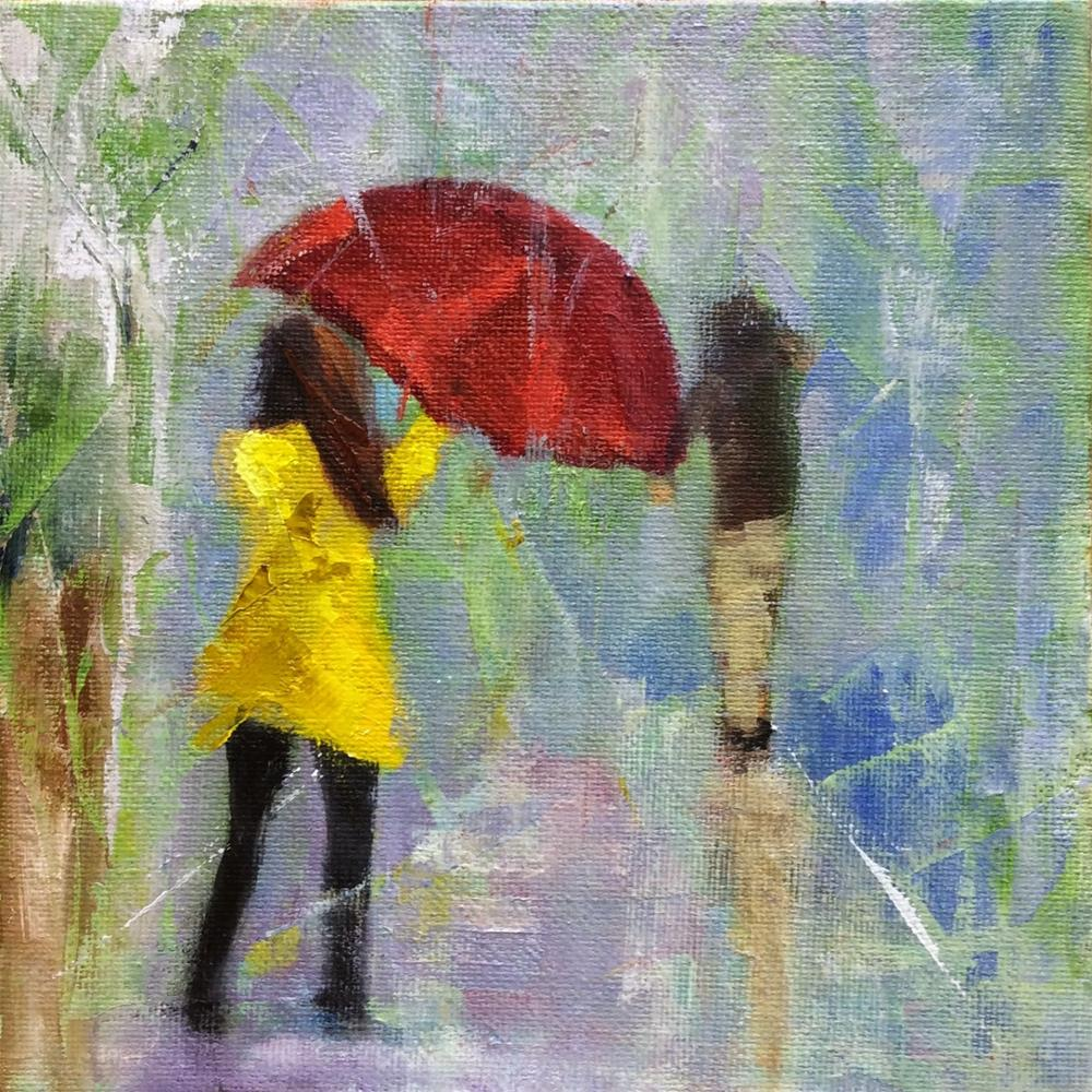 """""""Rainy Day Revisited"""" original fine art by Peggy Schumm"""