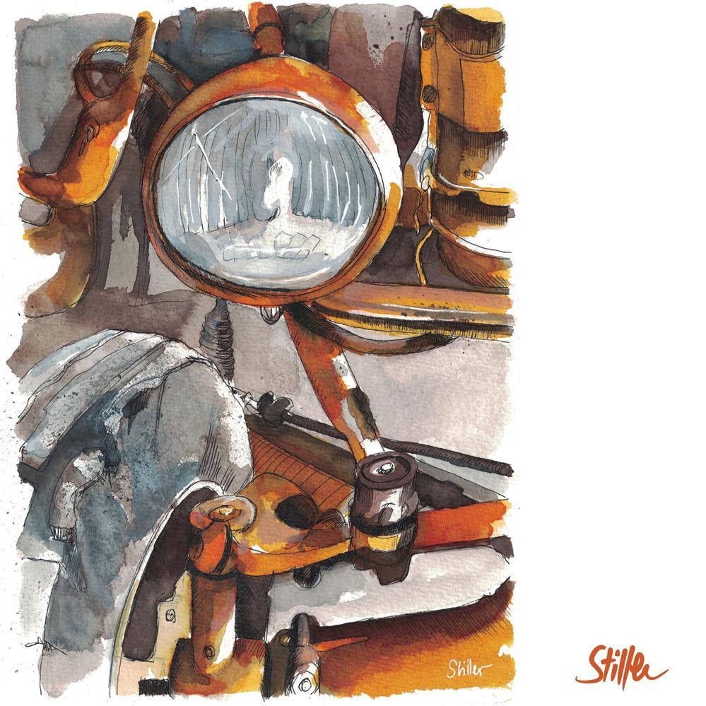 """""""3541 Old Tractor"""" original fine art by Dietmar Stiller"""