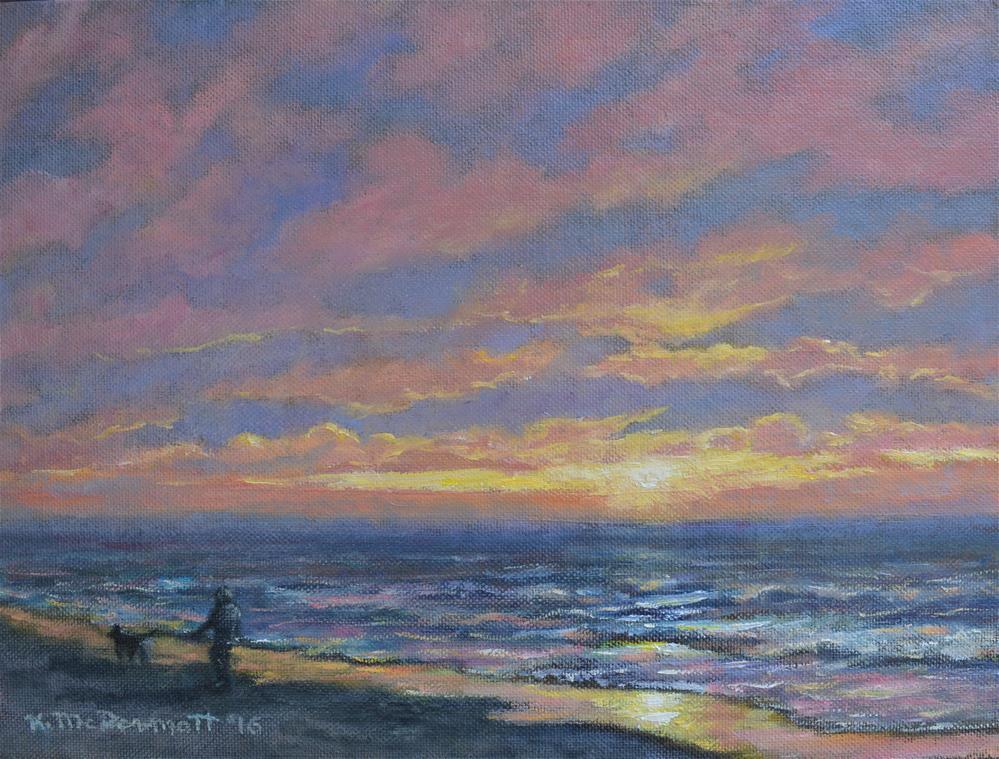 """""""First Light - Golden Mile"""" original fine art by Kathleen McDermott"""