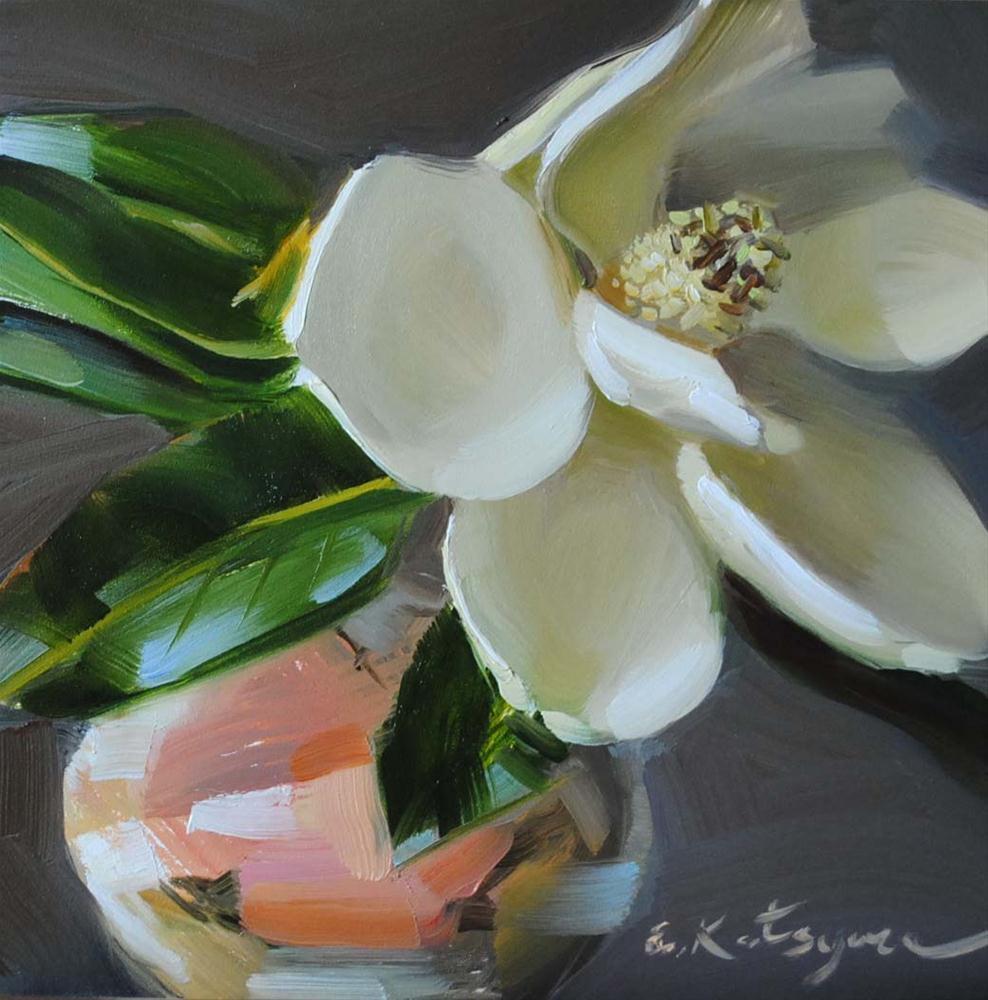 """Magnolia in May"" original fine art by Elena Katsyura"