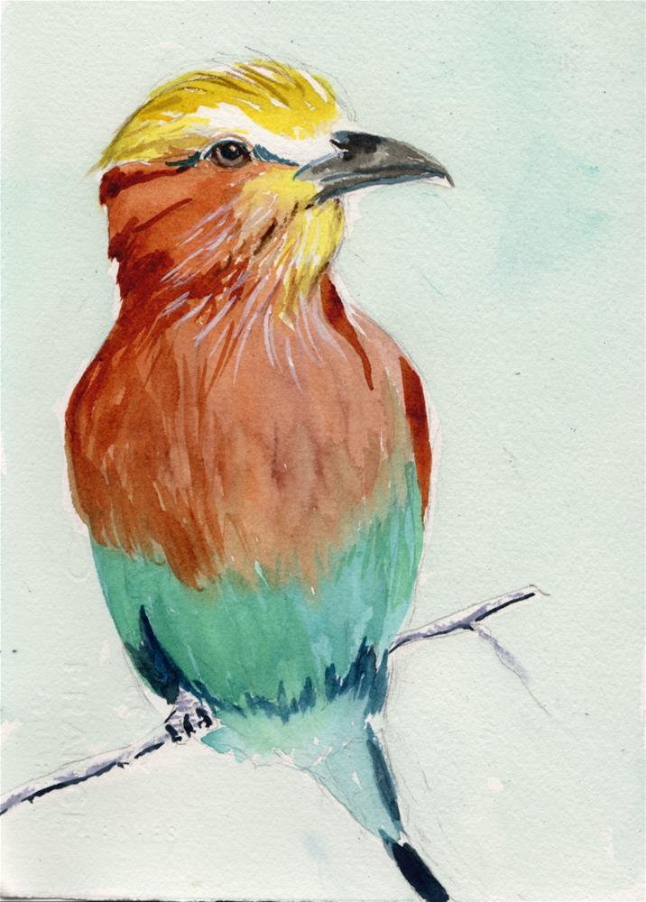 """""""Bird"""" original fine art by Bunny Griffeth"""