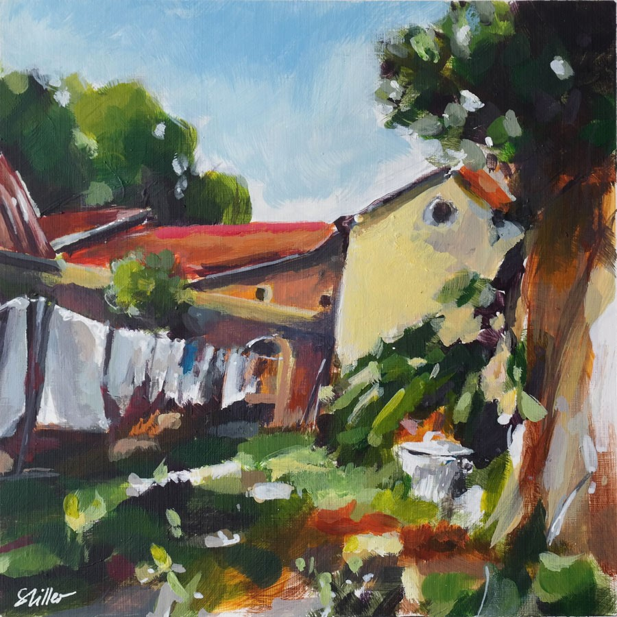 """3210 Frenchland 06"" original fine art by Dietmar Stiller"