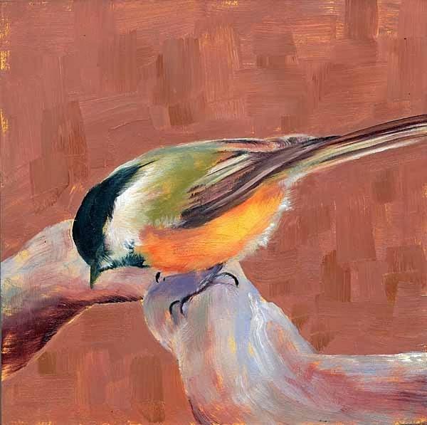 """Warm Chick"" original fine art by Brenda Ferguson"