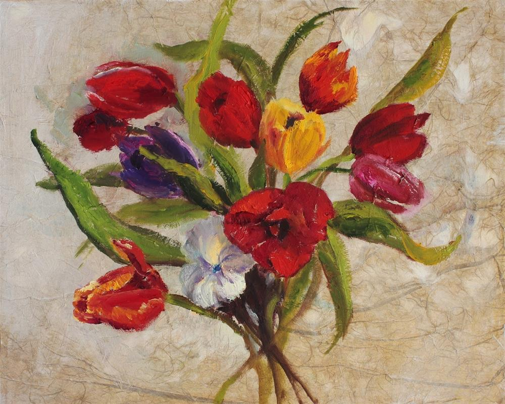 """Bouquet, Contemporary Floral Paintings by Amy Whitehouse"" original fine art by Amy Whitehouse"