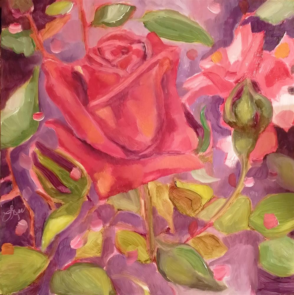 """""""Helen's Rose"""" original fine art by Leni Tarleton"""