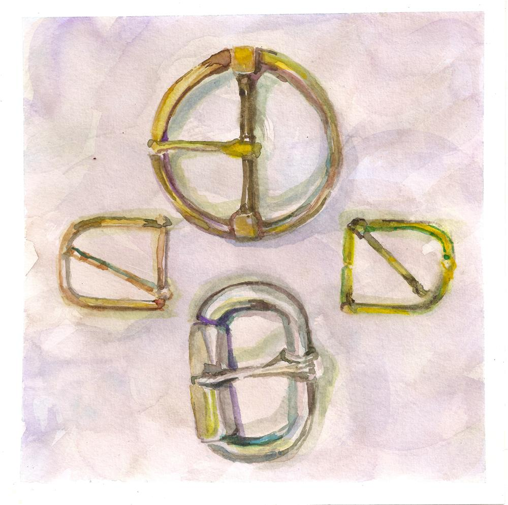 """Buckles2"" original fine art by Jean Krueger"