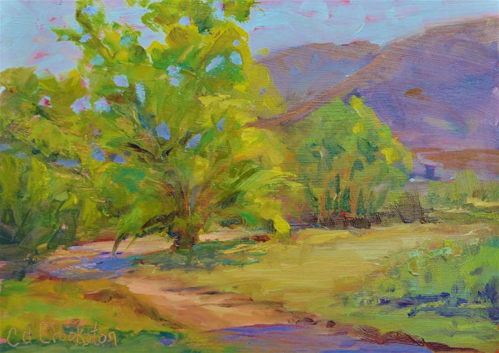 """Evening Shadows"" original fine art by Catherine Crookston"