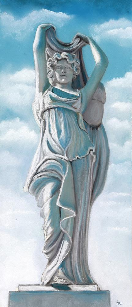 """Statue of Hope"" original fine art by Ria Hills"