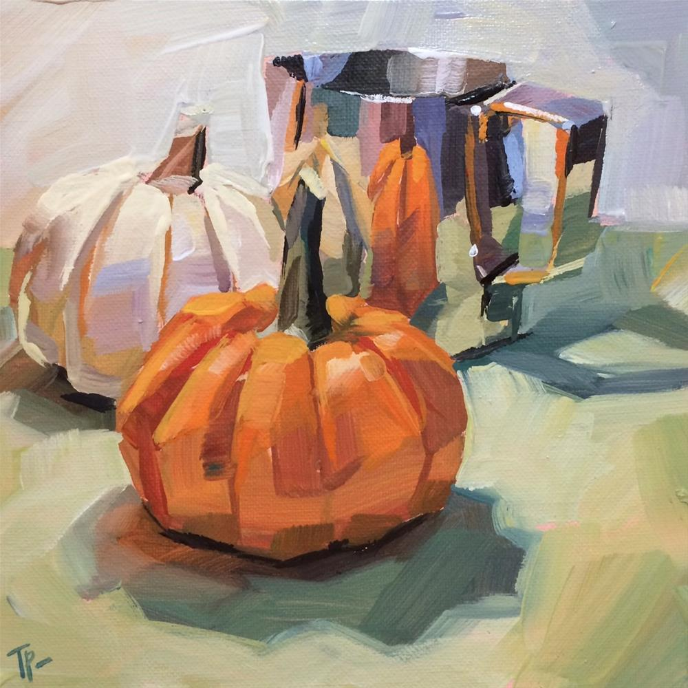 """Pumpkin Play"" original fine art by Teddi Parker"