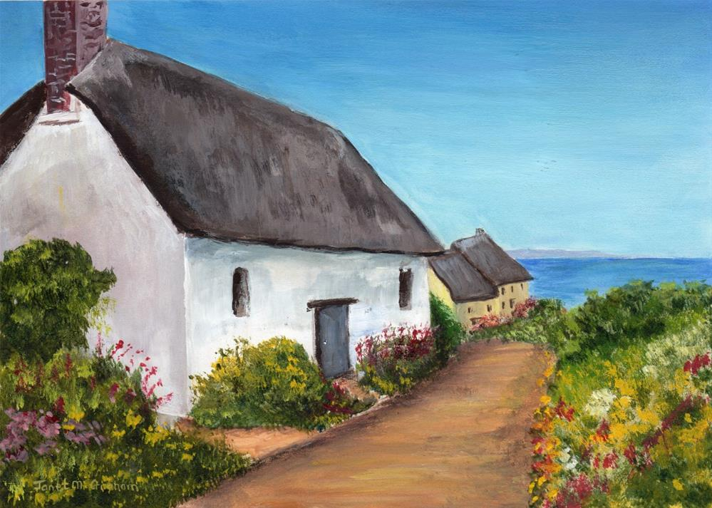 """Cottage by the Sea"" original fine art by Janet Graham"