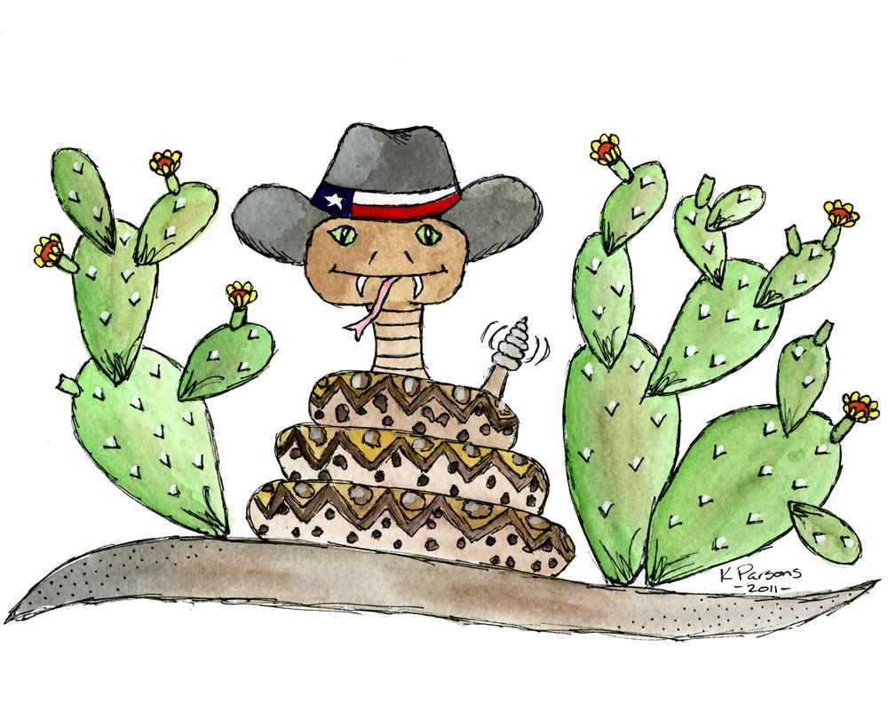 """""""Texas Rattler"""" original fine art by Kali Parsons"""