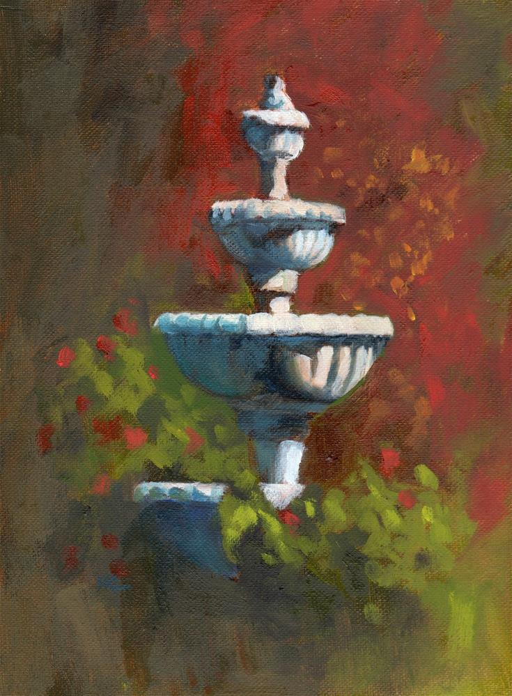 """The Capitol Fountain"" original fine art by Marlene Lee"