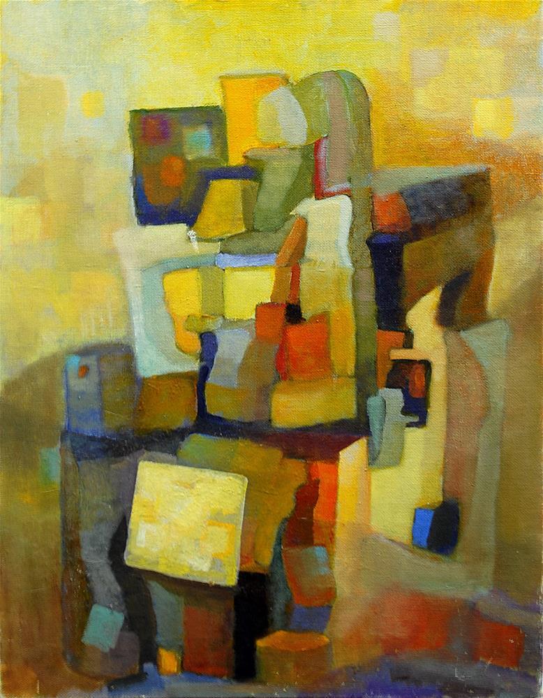 """Yellow and Purple"" original fine art by Deirdre McCullough Grunwald"