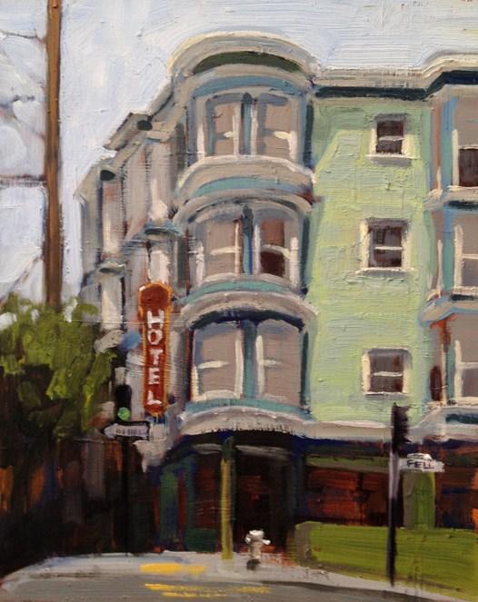 """Hotel on Fell"" original fine art by Deborah Newman"