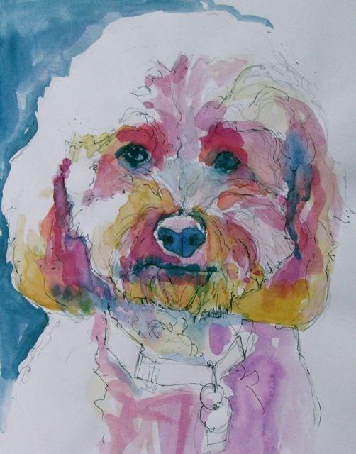 """Tucker"" original fine art by Patricia MacDonald"