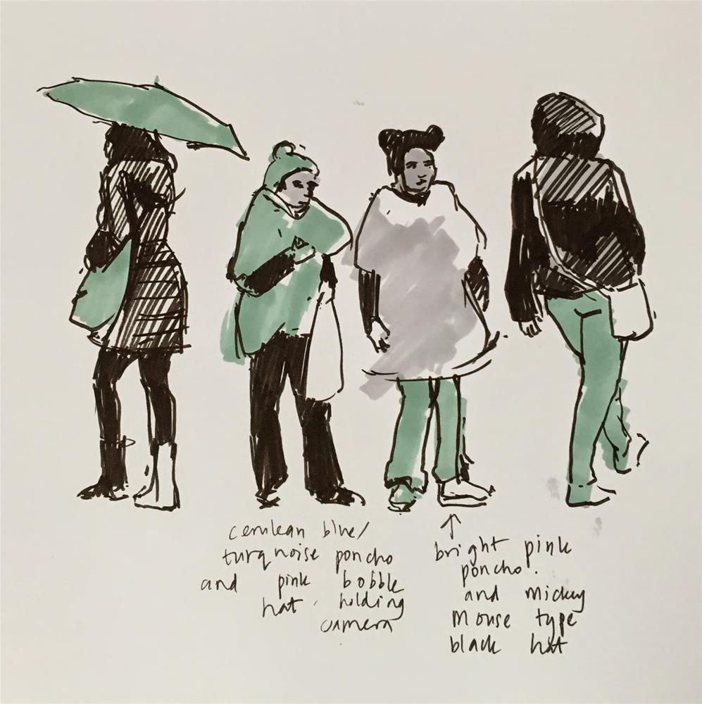 """Umbrella days"" original fine art by Haidee-Jo Summers ROI"