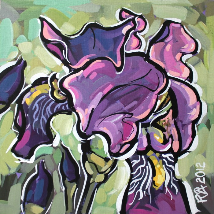 """""""Iris abstraction 15"""" original fine art by Roger Akesson"""