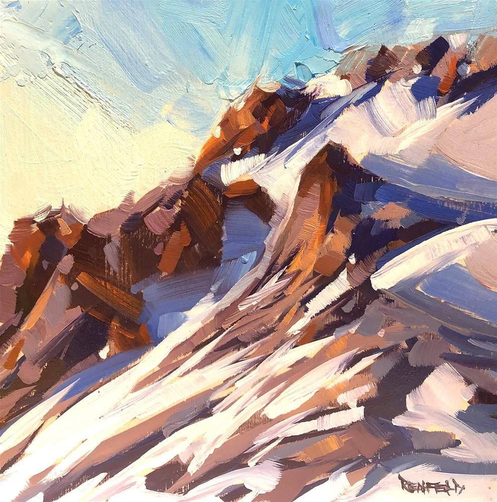"""Mt Hood Summit"" original fine art by Cathleen Rehfeld"