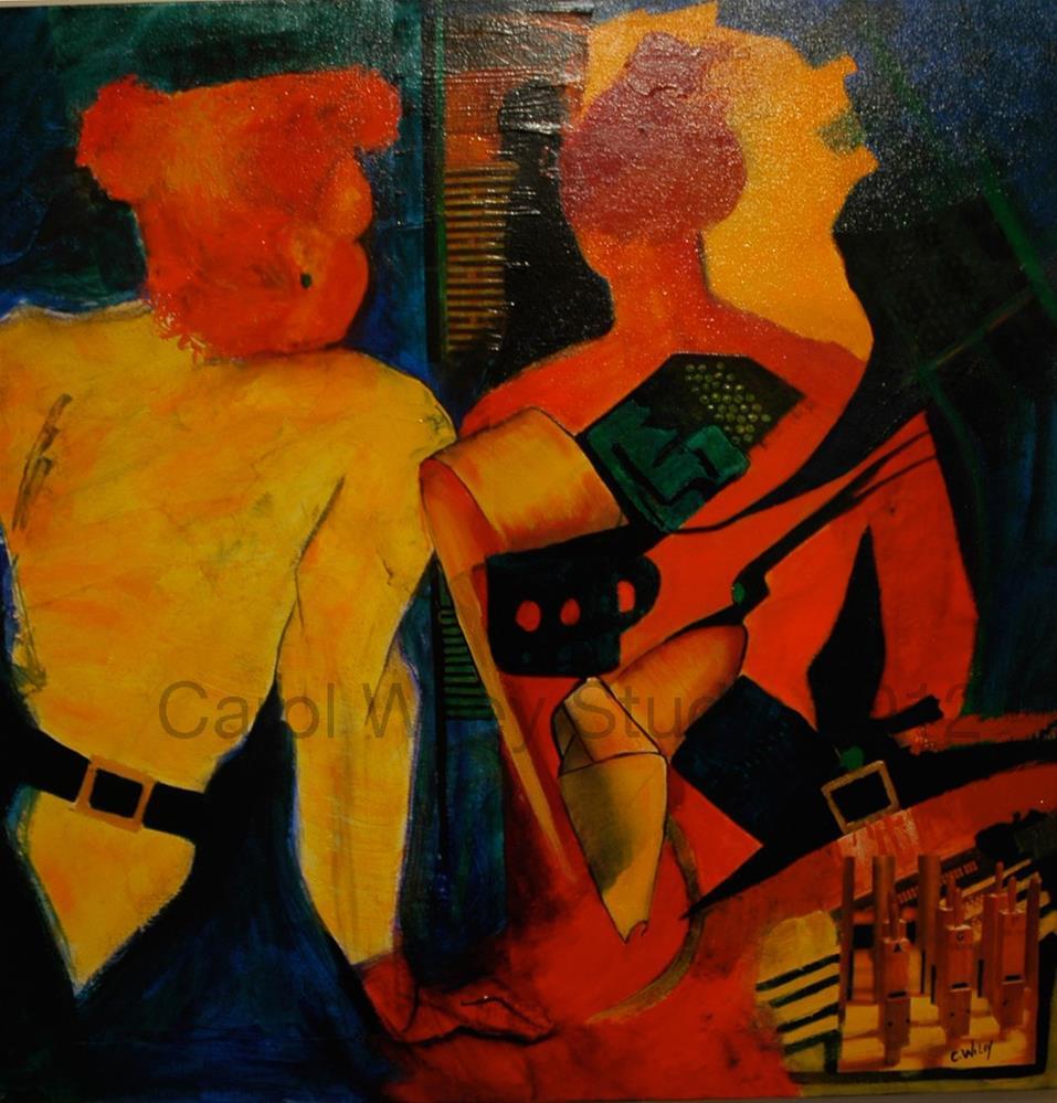 """The Secret"" original fine art by Carol Wiley"