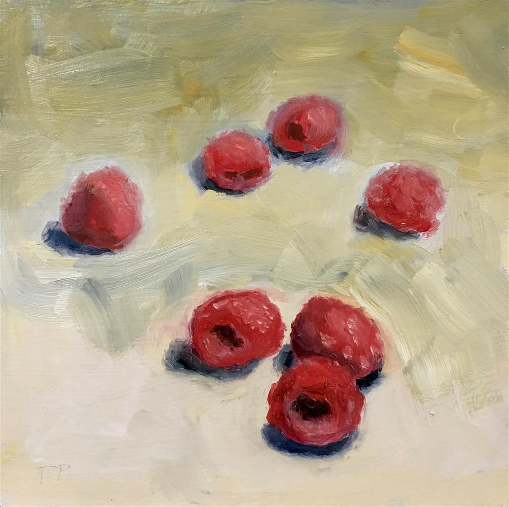 """036 Raspberries"" original fine art by Fred Bell"