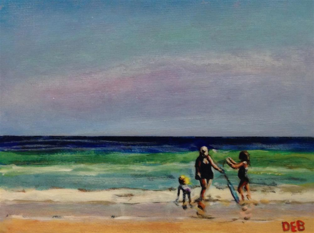 """Topsail Fun"" original fine art by Debbie Yacenda"