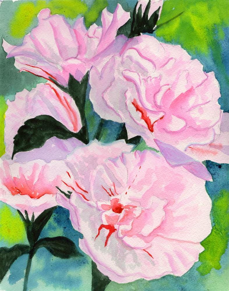 """Rose of Sharon"" original fine art by Bunny Griffeth"