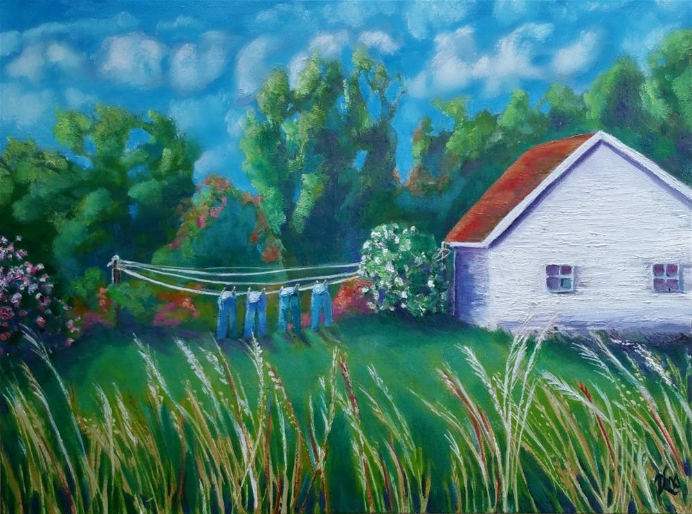 """4 Jeans"" original fine art by Dana C"