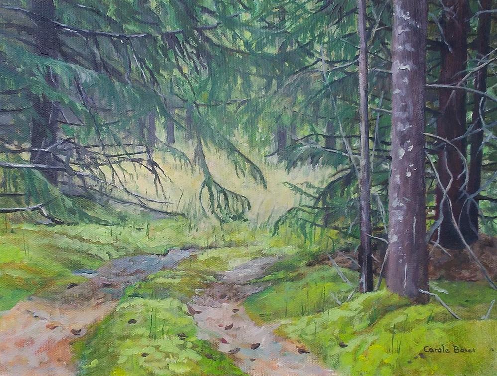 """""""Way to Boat Landing"""" original fine art by Carole Baker"""