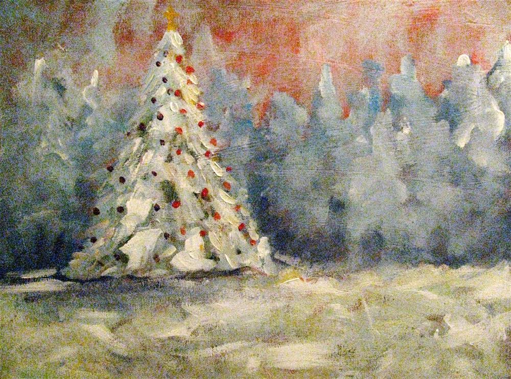 """O Tannenbaum"" original fine art by Susan Elizabeth Jones"