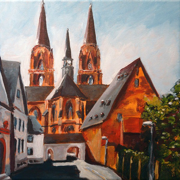 """0501 E-Church - E-Kirche"" original fine art by Dietmar Stiller"