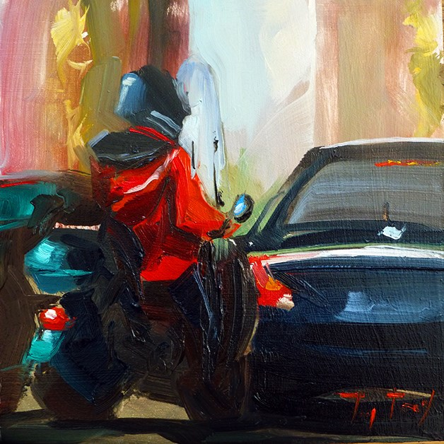 """Rollerfahrer"" original fine art by Jurij Frey"
