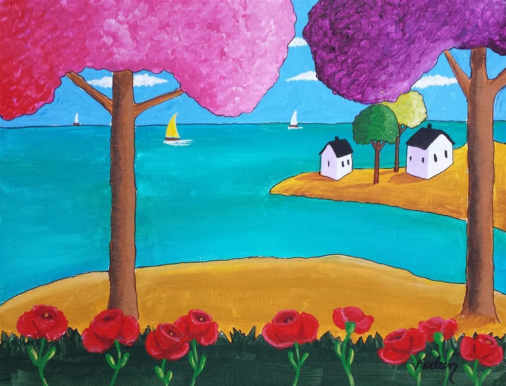 """""""Calm Waters"""" original fine art by Karleen Kareem"""