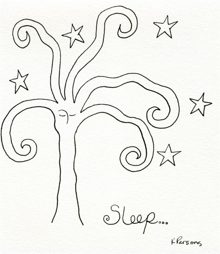 """Sleep..."" original fine art by Kali Parsons"