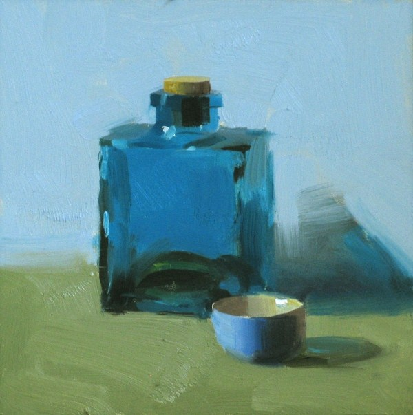 """""""The color of blue 2"""" original fine art by Qiang Huang"""