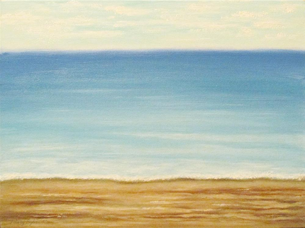 """Seascape 8"" original fine art by Mary Sylvia Hines"