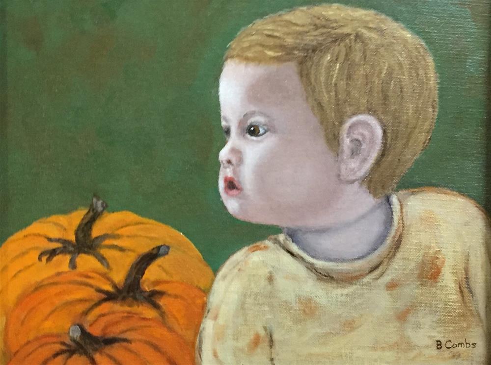 """""""Pumpkin Patch"""" original fine art by Bebe Combs"""