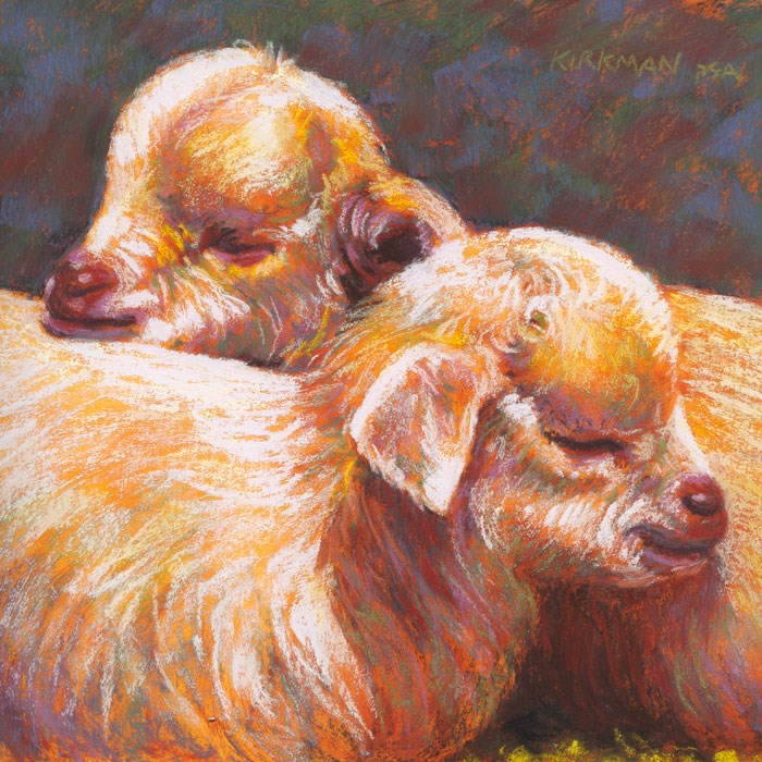 """""""Sleepy Siblings"""" original fine art by Rita Kirkman"""