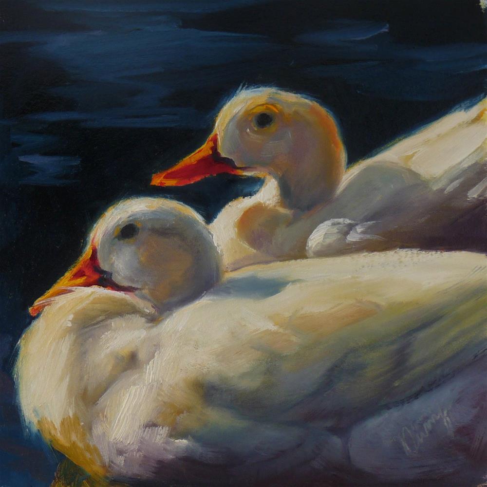 """""""Bobbsies"""" original fine art by Sharman Owings"""